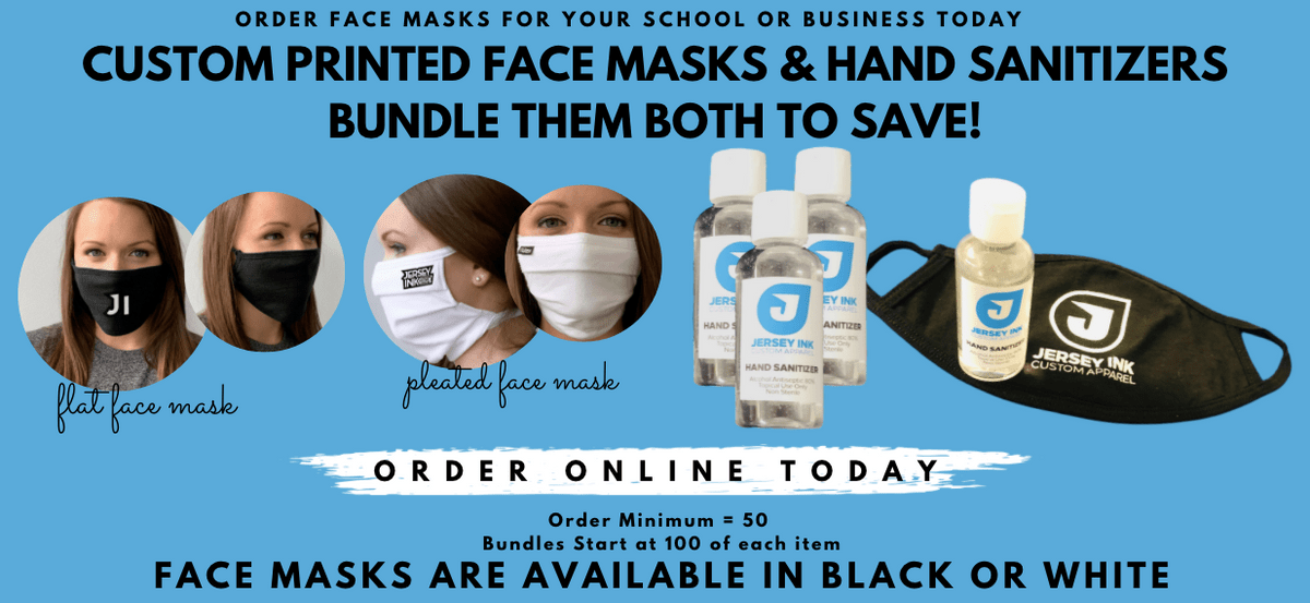 Custom Face Mask and Hand Sanitizer